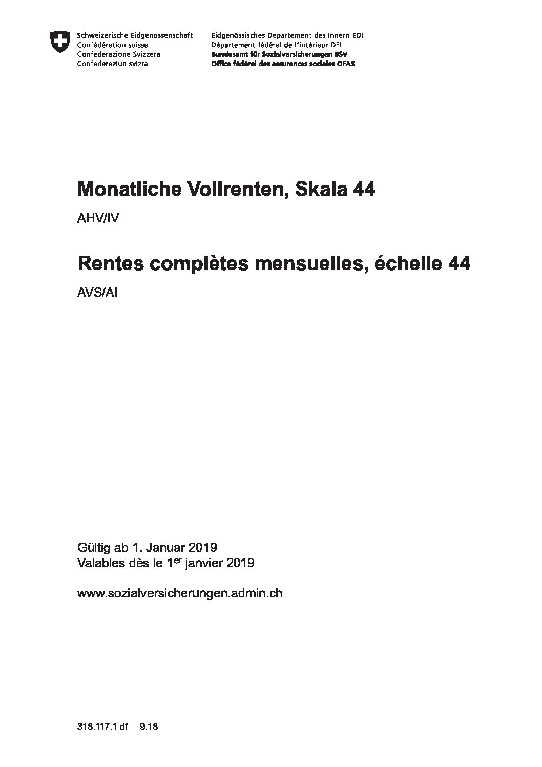AHV/IV - Skala 44