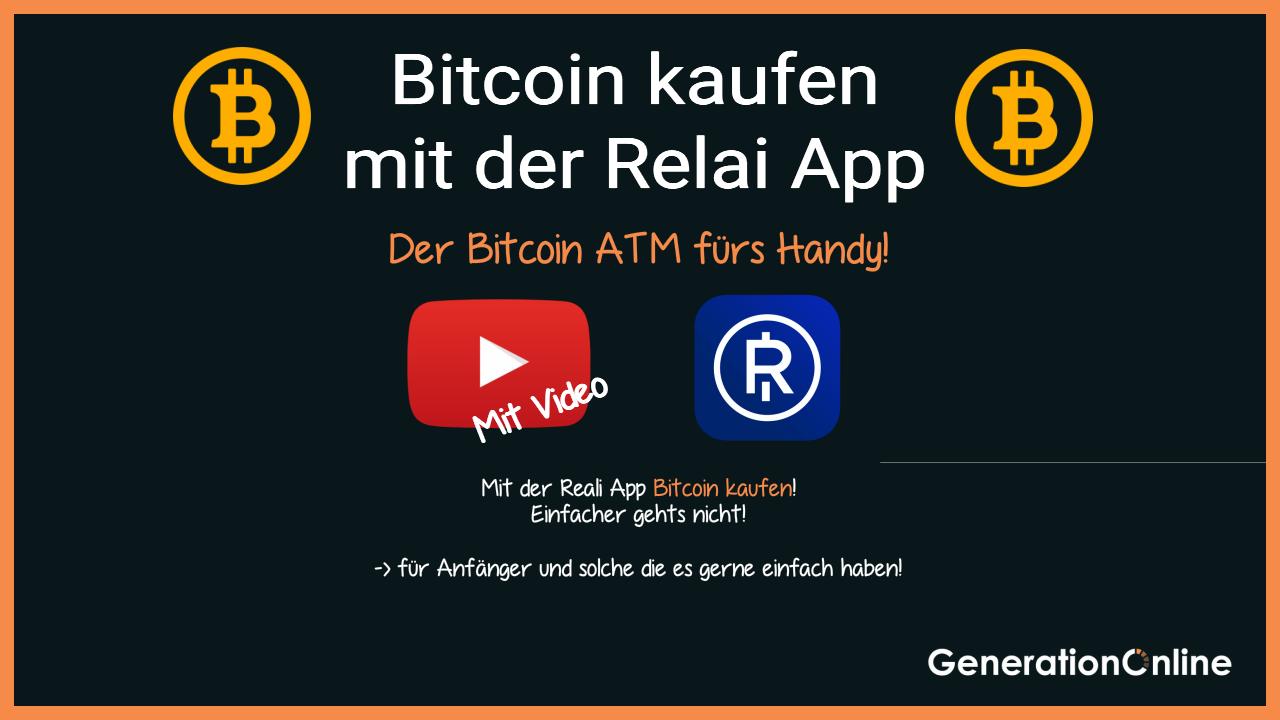 Bitcoin kaufen mit der Relai App